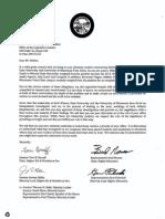 Joint Letter to Legislative Auditor