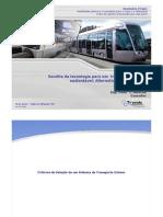 Alternativas sobre trilhos - Eng. Peter Alouche