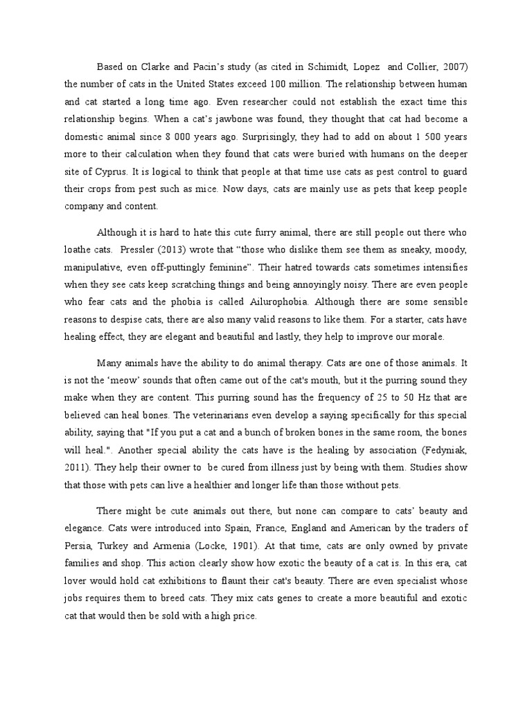 Essay on Cat in English For School Kids & Students | Cat Essay
