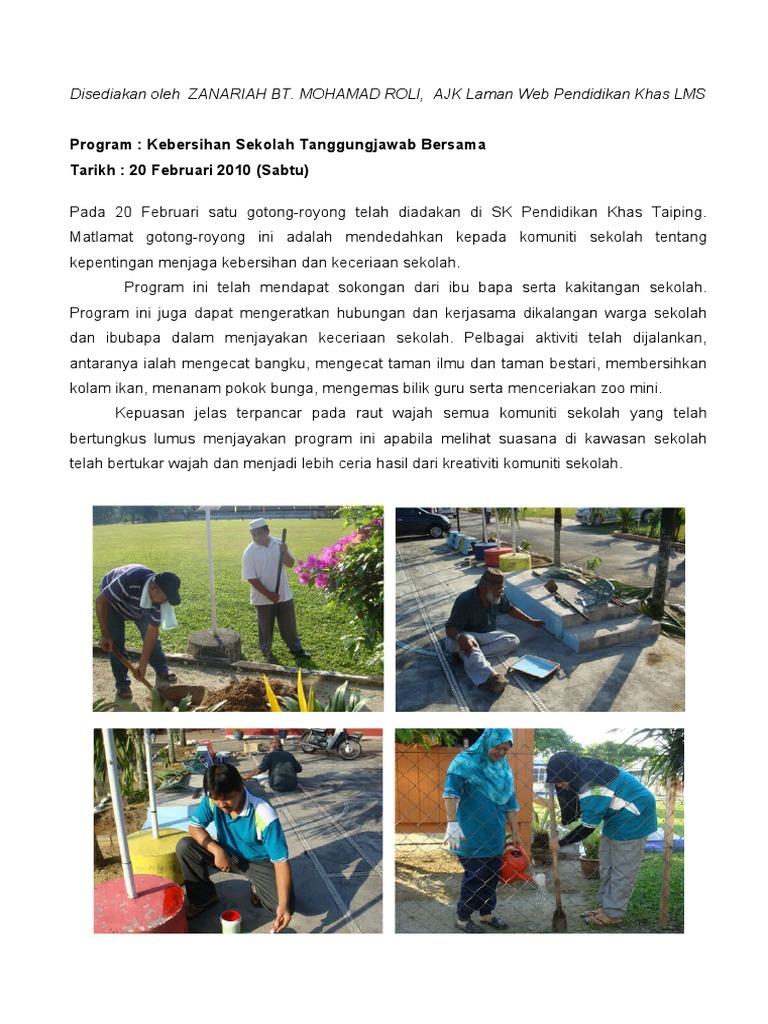 Kebersihan Sekolah Tanggungjawab Bersama