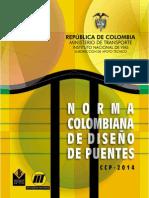 INVIAS Norma Colombiana de Diseño de Puentes Ccp 14