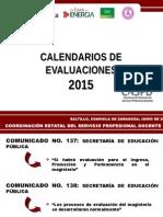 Calendario de Evaluaciones INEE-2