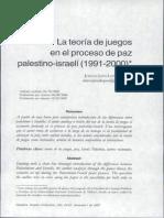 La teoria de juegos en el proceso de paz palestino-israeli