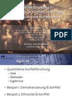 Int. Konfliktforschung II - Woche 02 - Quantitative Konfliktforschung