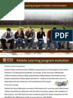 Mobile Learning Program evolution communication