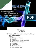 presentasi laporan praktikum