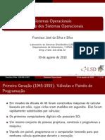 Historico dos Sistemas Operacionais