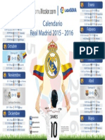 Calendario Real Madrid 2015 2016