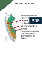 Factorees Que Alteran El Clima en El Perú