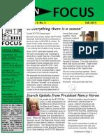 Fall 2015 Newsletter