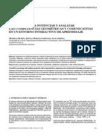 Un Modelo Para Potenciar y Analizar Los Competencias Geométricas y Comunicativas (J. Murillo Ramón y G. Marcos Lorenzon)