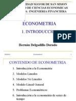1 Introduccion a La Econometria