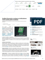 Análise Financeira_ Conheça Os Indicadores Mais Usados Pelos Analistas - InfoMoney