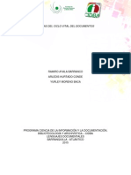Trabajo Gestion Documental - Ciclo Vital de Los Documentos