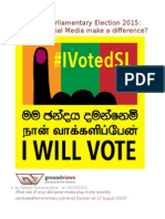 Sri Lanka Parliamentary Election 2015 How Did Social Media Make a Difference