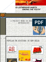 """Ppt on Research Methodology....""""RADIO LISTENERSHIPS AMONG YOUTHS""""....."""