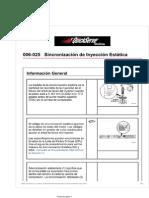Sincronizacion de Inyeccion Estatica motor isx