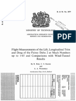 "Flight Measurements of the Lift, Longitudinal Trim and Drag of the Fairey Delta 2 at Mach Numbers up to 1""65 and Comparisons with Wind-Tunnel Results"