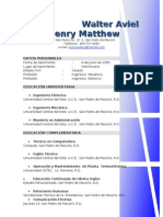 Curriculum Ing.walter Henry Matthew