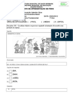 D1 avaliação matmatica