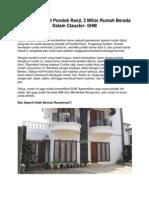 Dijual Rumah Di Pondok Ranji, 2 Miliar Rumah Berada Dalam Clauster- SHM