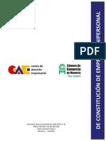 Modelo Constitucion Empresa Unipersonal