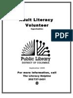 Adult Literacy Volunteer