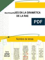 Novedades en La Gramática de La Rae