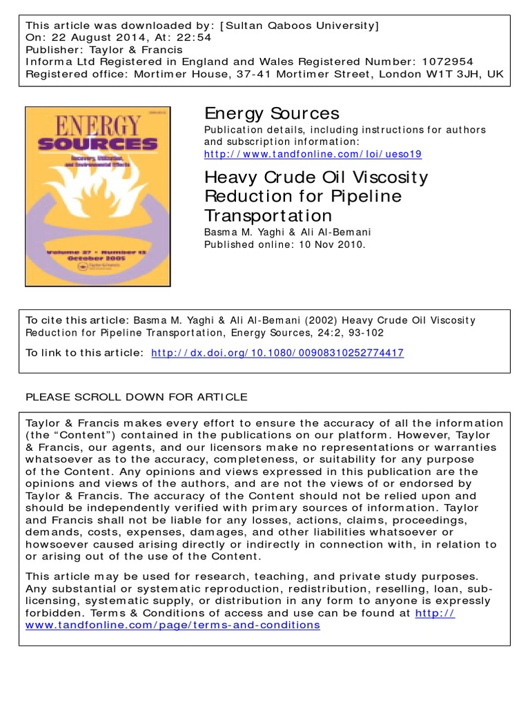 Heavy Crude | Emulsion | Petroleum