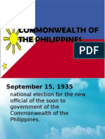 Commonwealth period in the Philippines