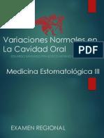Variaciones Normales en La Cavidad Oral - Medicina Estomatologico II