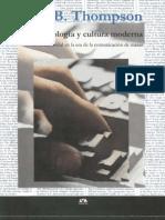 THOMPSON JOHN B Ideologia y Cultura Moderna Teoria Critica s