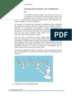Tipos de Organización Para Las Empresas