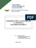 GUIA DE TEORIA DE LA POL+ìTICA MACROECONOMICA II