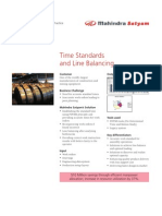 Mahindra Satyam BPO Engineering Services Time Standards Line Balancing