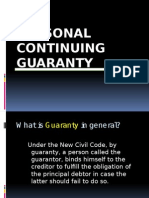Personal Continuing Guaranty