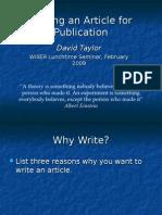 WritinganArticleWISER.ppt