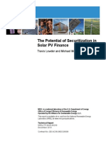 The Potential of Securitization in PV Finance