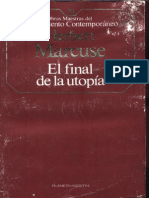 Herbert Marcuse - El Final de La Utopia[1]