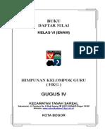 Remedial & Daftar Nilai Kelas Vi Sd