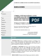 CORRELACIÓN DIAGNÓSTICA ENTE LAS DISPLASIAS DE CÉRVIX Y DETECCIÓN POR PCR DEL PAPILLOMA VIRUS HUMANO.