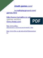 Maths Websites