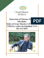 Entrevista Maestro Daniel Medvedov, en Madrid, sobre el Gran Maestro LIU YÜEN CHIAO