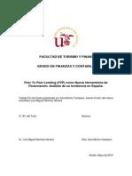 Peer to Peer lending (P2P) como nueva herramienta de financiación. Análisis de su incidencia en España.
