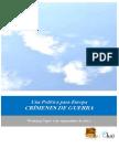 Una Politica Para Europa. CRIMENES DE GUERRA
