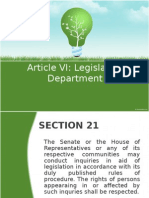 Article VI Legislative (21-24, 29)