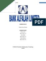 Bank Alfalah Limited project, business plan