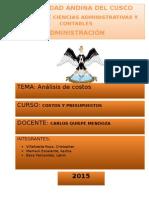 HABERSARI. Analisis de Costos