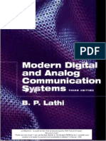 Modern Digital and Analog Comm by B.P. Lathi