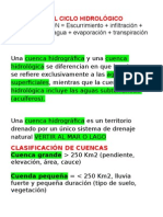 CUENCAS HIDROLOGICAS HIDROGRAFICAS